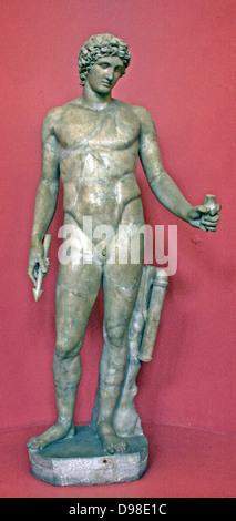 Apollo.  Of all the Greek gods Apollo, the son of Zeus and Leto, represents best the achievements in the development - Stock Photo