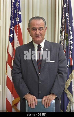 Lyndon Baines Johnson (1908-1973) 36th President of the Unites States of America 1963-1969. - Stock Photo