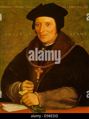 Hans Holbein the Younger 1497 or 1498 - 1543 (artist),Portrait of Sir Brian Tuke, oil on pane. Tuke was Treasurer - Stock Photo