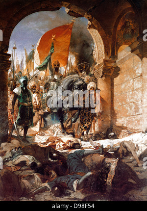 Benjamin Constant 1845–1902, French artist. 'The Entry of Mehmet II into Constantinople' 1876 - Stock Photo