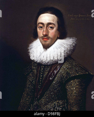 Charles I as Prince of Wales, 1624 by Mytens - Stock Photo