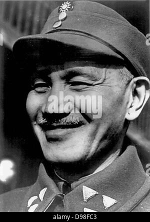 Chiang Kai-shek (1887-1975) Chinese political and military leader at the time he became head of the Koumintang in - Stock Photo