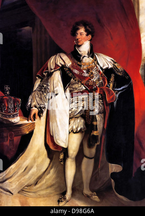 George IV 1762 – 1830, King of Great Britain 1820 - 1830. Portrait as prince Regent by Thomas Lawrence 1822 - Stock Photo