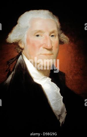 Gilbert Stuart (1755-1828) George Washington c 1795 US President - Stock Photo