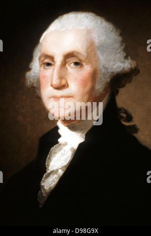Gilbert Stuart (1755-1828), George Washington 1821 US President - Stock Photo