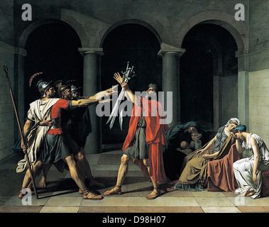 Jacques-Louis David (30 August 1748 – 29 December 1825) was a highly influential French painter in the Neoclassical - Stock Photo