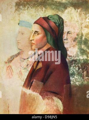 Dante Alighieri (c1265-1321) known as Dante, Italian poet. Portrait c1495 by Sandro Botticelli (c1445-1510) Italian - Stock Photo