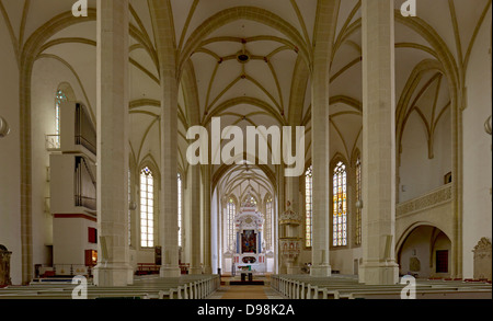 Interior view of the choir in the St. Mary's Church in Torgau, Saxony, Germany - Stock Photo