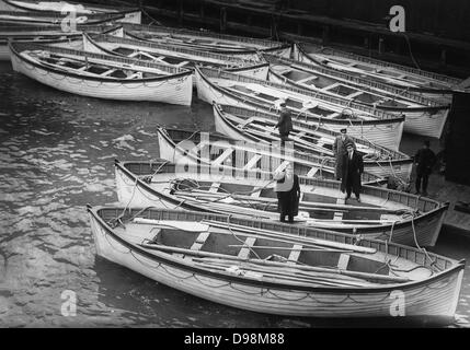 life Boats from the Titanic 1912 - Stock Photo