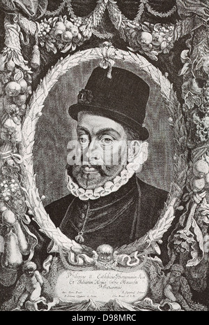 Philip II of Spain 1527-1598 was king of Spain, Portugal, Naples Sicily and, while married to Mary I, King of England - Stock Photo