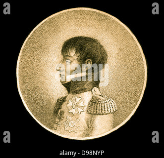 Louis Napoleon Bonaparte (1778-1846) was established in 1806 by his brother, Emperor Napoleon, appointed to King - Stock Photo
