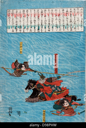The Great Battle of Kawanakjima in Shinsu: probably the 1561 fourth battle between the warlords Takeda Shingen and - Stock Photo