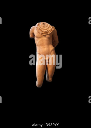 Marble statue of Hermes, Roman 1-2nd Century AD adapted from a classical Greek sculpture - Stock Photo