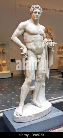 Marble statue of a youthful Hercules. Roman A.D. 68–98 - Stock Photo