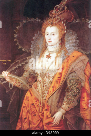 The Rainbow Portrait of Queen Elizabeth I by Isaac Oliver. - Stock Photo