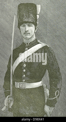 Prins Louis Napoleon, Prince Imperial of France.  He was sent from England to take the field against Cetewayo.  - Stock Photo