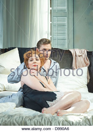 Sweet Bird of Youth by Tennessee Williams directed by Marrianne Elliott. With Kim Cattrall as Alexandra Del Lago, - Stock Photo