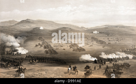 Crimean War 1853-1856: 'Charge of the light cavalry brigade, 25th Oct. 1854, under Major General the Earl of Cardigan'. - Stock Photo