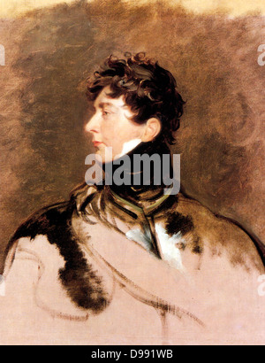 George IV by Sir Thomas Lawrence. George IV 1762 –1830, King of the United Kingdom of Great Britain and Ireland - Stock Photo