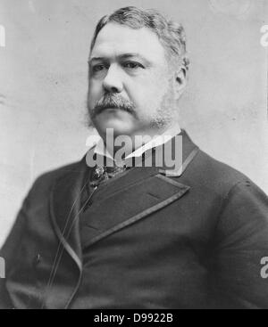 Chester Alan Arthur (October 5, 1829 – November 18, 1886) served as the 21st President of the United States (1881 - Stock Photo