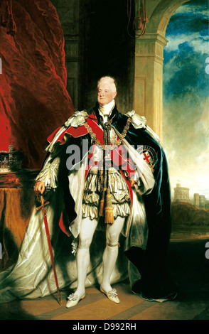 William IV (1765-1837), 1833, King of United Kingdom (1830-1837). Portrait by Sir Martin Archer Shee (1769-1850) - Stock Photo