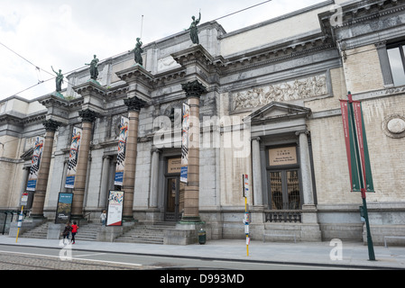 BRUSSELS, Belgium - The front of the building of the Royal Museums of Fine Arts in Belgium (in French, Musées royaux - Stock Photo