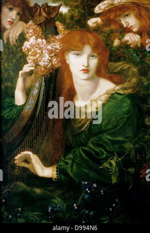 Dante Gabriel Rossetti (1828–1882) La Ghirlandata, 1871-1874 - Stock Photo