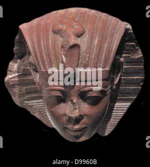 Sphinx head, probably of King Amenhotep II - Stock Photo