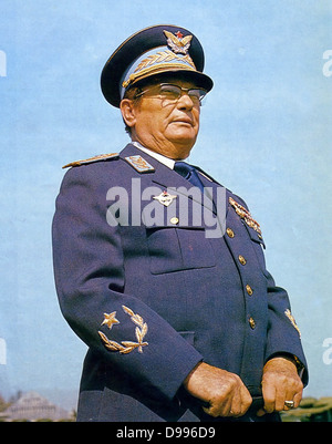 Josip Broz Tito (1892 - 1980) Yugoslav revolutionary and statesman. Secretary-General (later President) of the Communist - Stock Photo
