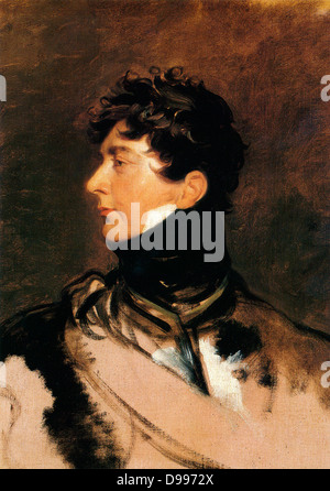 George IV King of Great Britain (from 1820 to 1830), depicted as Prince Regent, circa 1814. By Sir Thomas Lawrence - Stock Photo