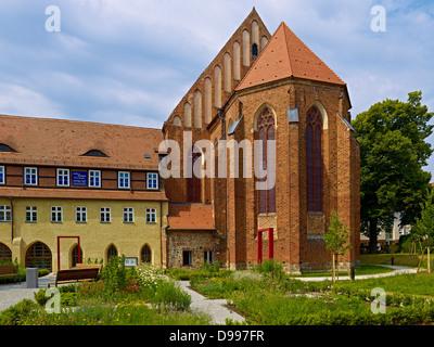 Dominican monastery and abbey church of St. Nicholas in Prenzlau, Uckermark, Brandenburg, Germany - Stock Photo