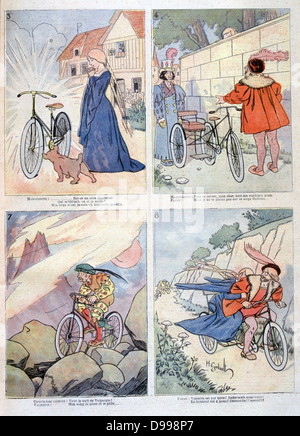 Bicycle applied to the Legend of Faust: From - Temptation by Mephistopheles, A rejuvinated Strauss courting Marguerite, - Stock Photo