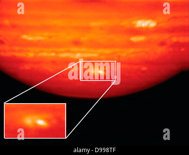 This infrared image, showing thermal radiation at a wavelength of 9.7 microns, was obtained by the Gemini North - Stock Photo