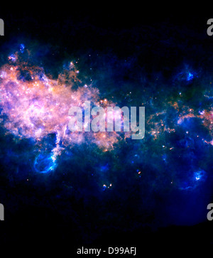 This image is taken looking towards a region of our Milky Way galaxy in the Eagle constellation, closer to the galactic - Stock Photo