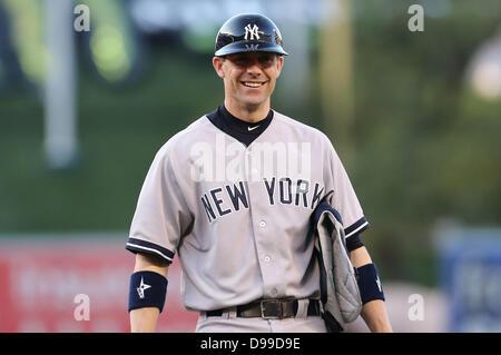 Anaheim, California, United States of America. 14th June, 2013. June 14, 2013 Anaheim, California: New York Yankees - Stock Photo