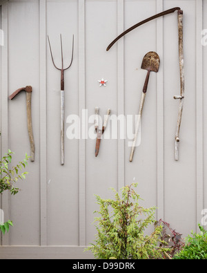 Tools For The Garden On Display Stock Photo Royalty Free