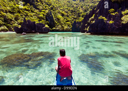 The Philippines, Palawan Province, El Nido, island-hopping. - Stock Photo