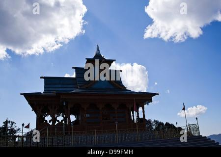Low angle view of a temple, Shimla, Himachal Pradesh, India - Stock Photo