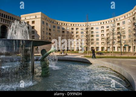 Place de Thessalie, Montpellier, Hérault, Languedoc-Roussillon - Stock Photo