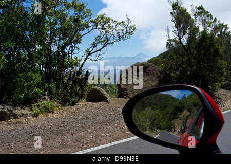 View of Teide from near to El Bailadero in Anage, Tenerife, Canary Islands, Spain, - Stock Photo