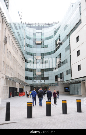 BBC Broadcasting House Portland Place London W1A 1AA - Stock Photo