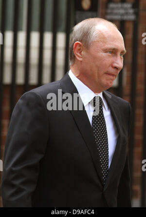 VLADIMIR PUTIN RUSSIAN PRESIDENT 16 June 2013 10 DOWNING STREET  LONDON ENGLAND - Stock Photo