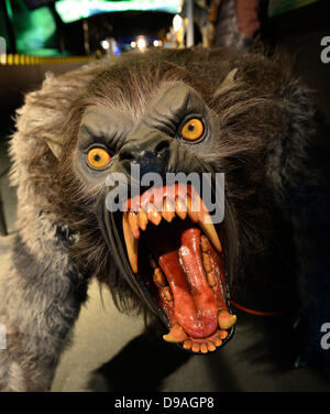 Garden City, New York. 15th June 2013. A snarling monster with large fangs is on display at the Eternal Con Pop - Stock Photo
