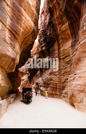 Passage to Petra in Jordan - Stock Photo