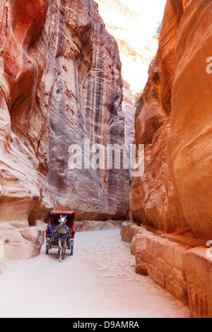 Al-Siq, Petra, Jordan - Stock Photo