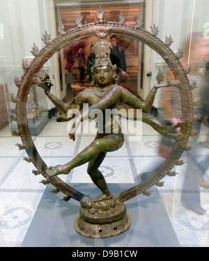 Shiva Nataraja, Lord of the Dance (900-50).  Copper Alloy. Southern India. Late Pallava/early Chola period. Shiva - Stock Photo