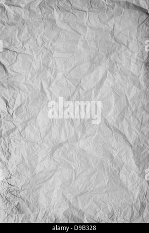 gray crumpled paper background or rough crumpled texture - Stock Photo