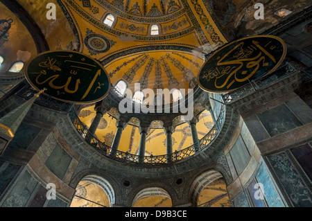 Interior of Hagia Sophia, Istanbul - Stock Photo