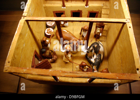 Slaughter House, Egyptian, Dynasty 11 c. 2009-1998 BC. - Stock Photo