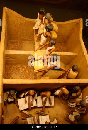 Granary, Dynasty 11, c. 2009-1998 BC. - Stock Photo